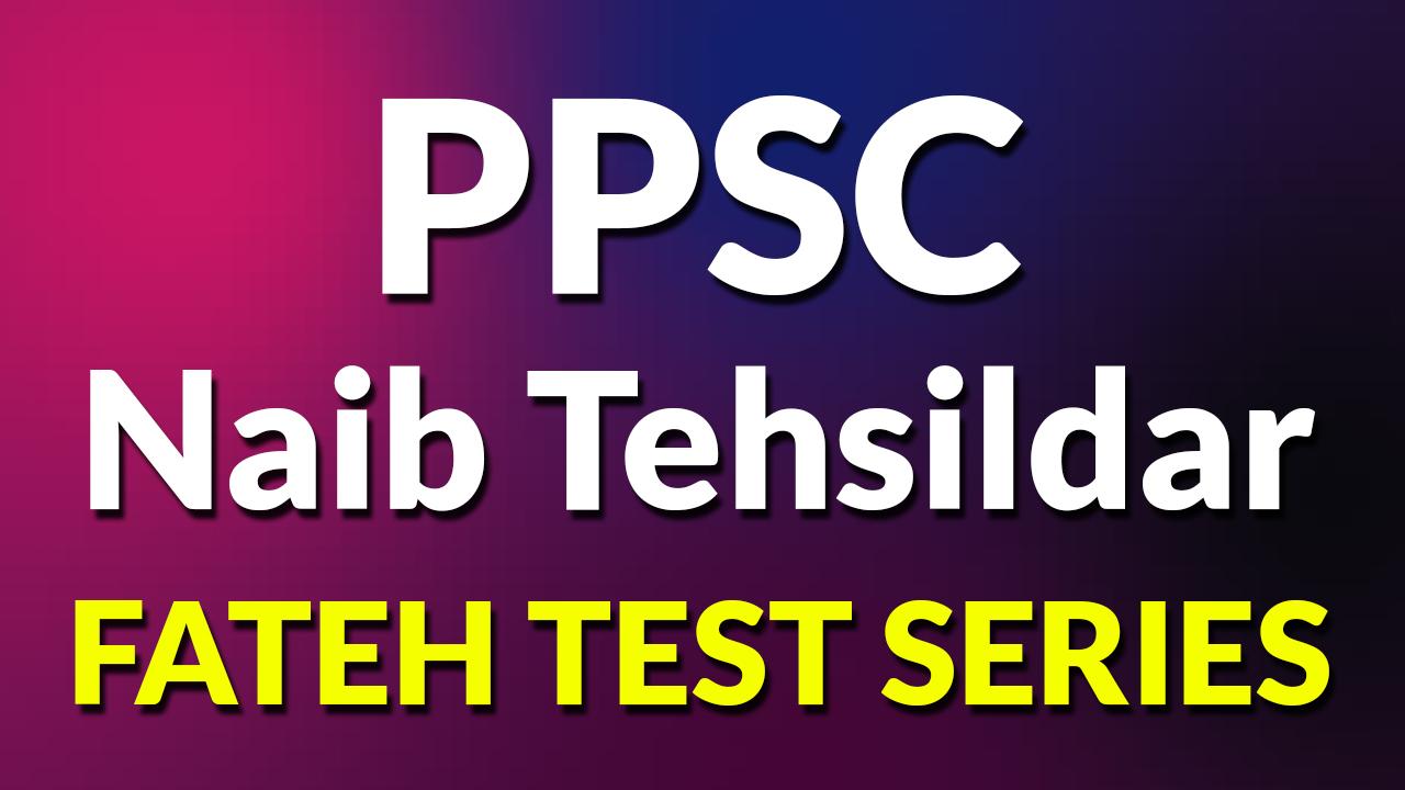Punjab Naib Tehsildar 'Fateh' Test Series